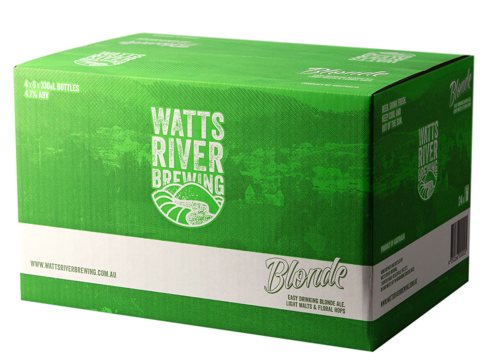 blonde case watts river brewing